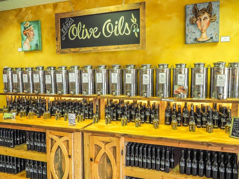 The Hat's Olive Tap, an olive oil shop in Medicine Hat, one of the best places to buy Medicine Hat souvenirs