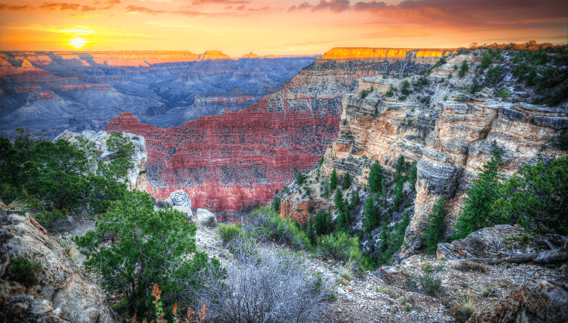 Grand Canyon, one of the best national parks to visit in fall in America
