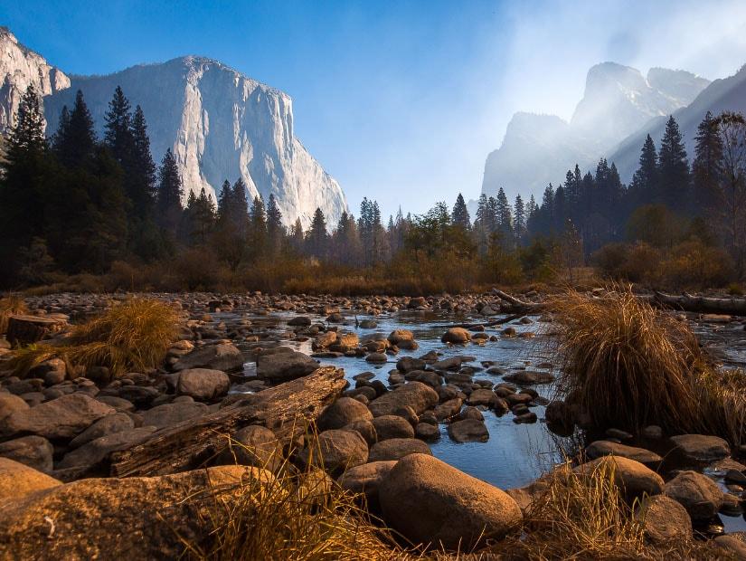 Yosemite Valley in Yosemite National Park, in the season of autumn