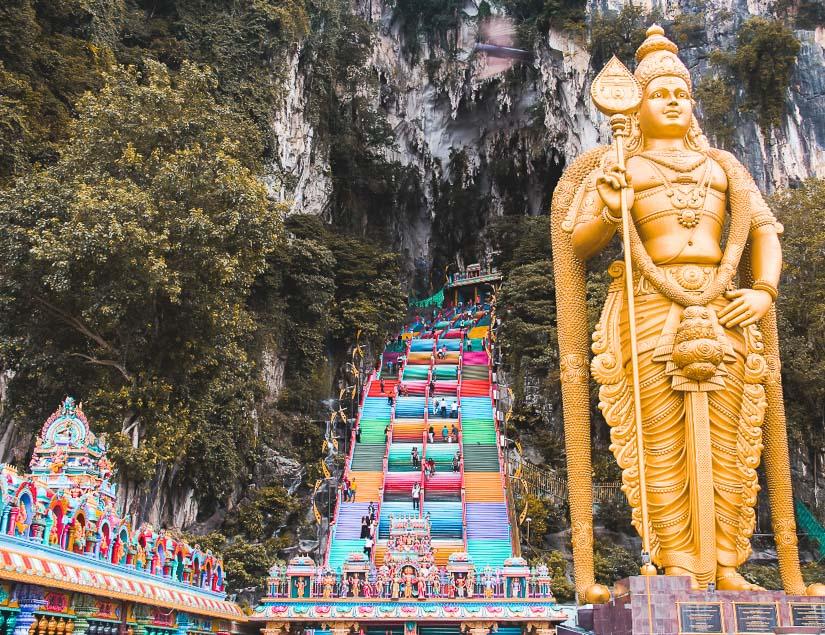 Batu Caves, Malaysia: one of the best Hindu temples in Southeast Asia