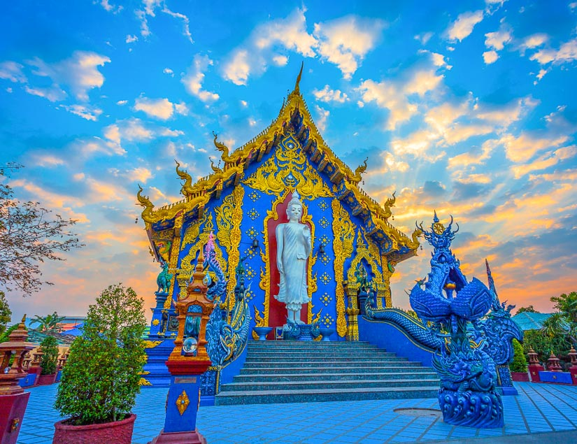 The Blue Temple (Wat Rong Seur Ten), Chiang Rai: one of the newest and most unique Southeast Asian temples