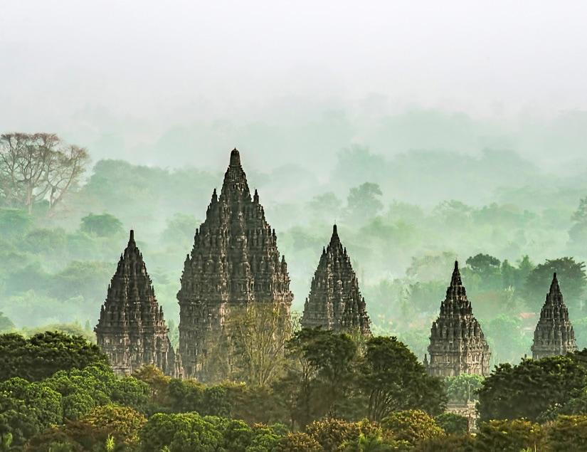 Prambanan Hindu temple ruins in Indonesia