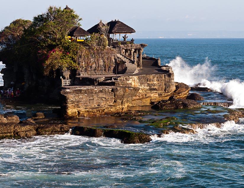 Pura Tanah Lot, the famous coastal temple of Bali, Indonesia