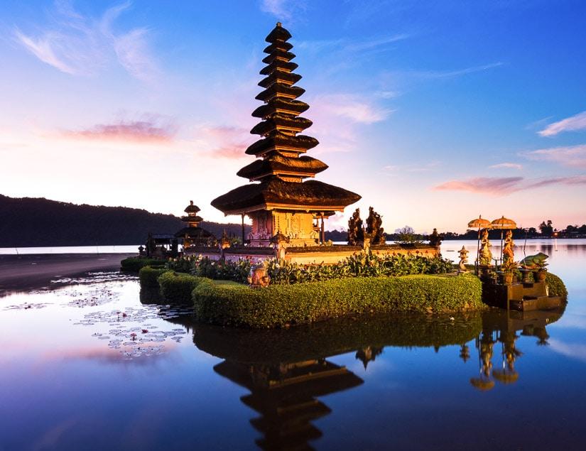 Pura Ulun Danu Bratan, the water temple on the lake, Bali