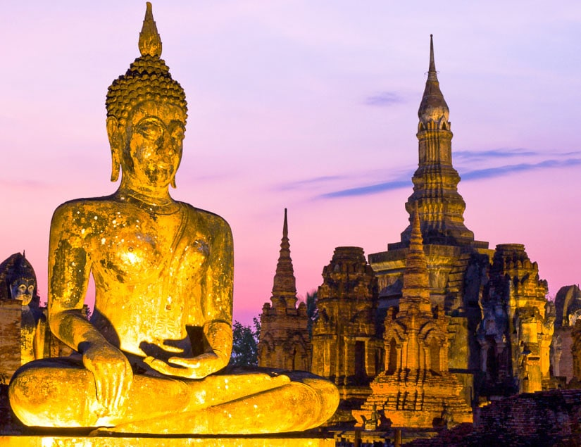 Temples of Sukhothai, Thailand, some of the most ancient Buddhist temples in Southeast Asia