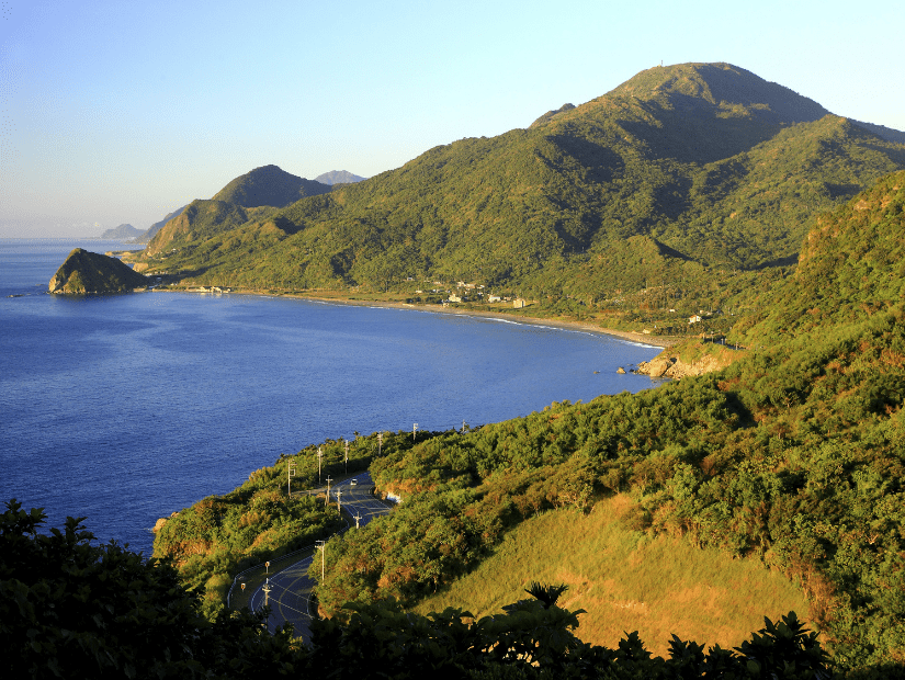View of the east coast of Taiwan from Baqi Rest Stop in Hualien