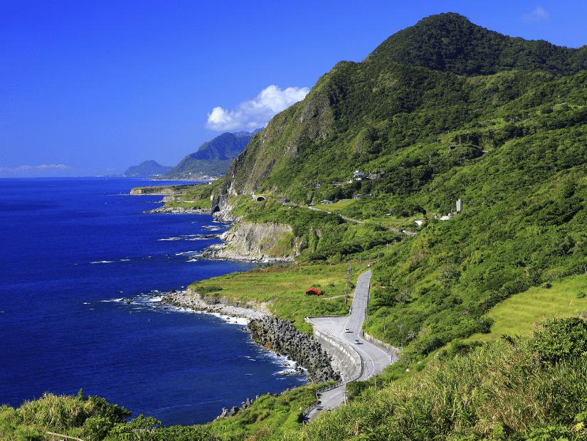 Coastal scenery in Fengbin, Hualien County, Taiwan