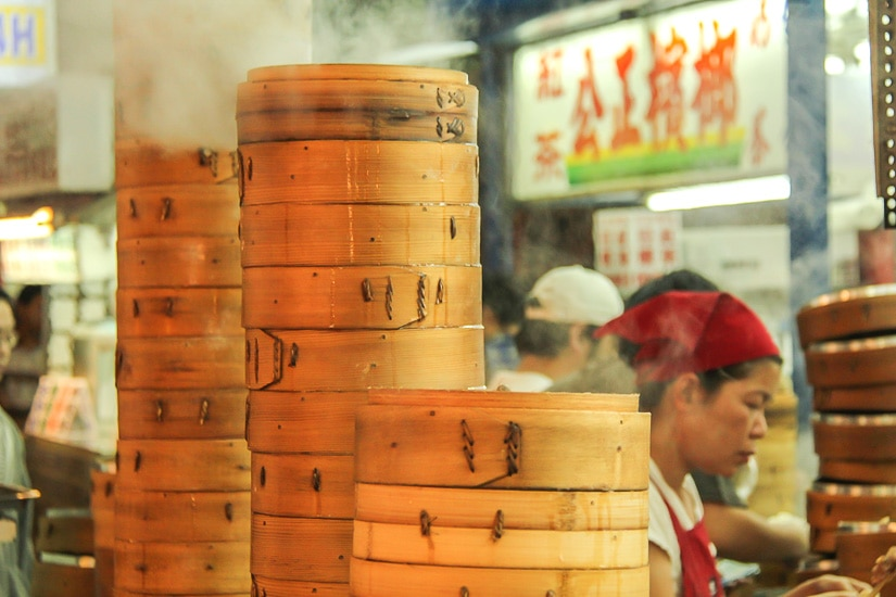 Famous steamed dumplings at Dongdamen Night Market (Hualien night market)