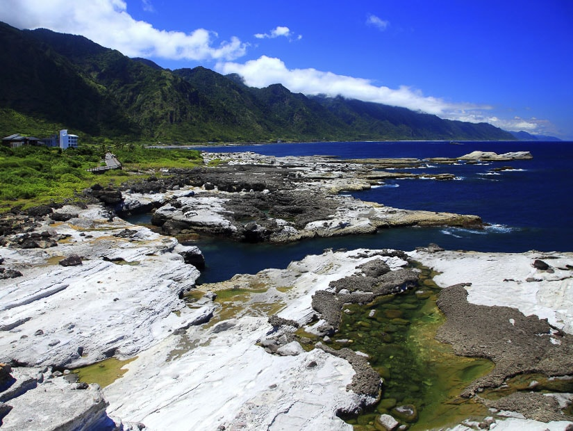 Rocky coast of Shitiping in Hualien