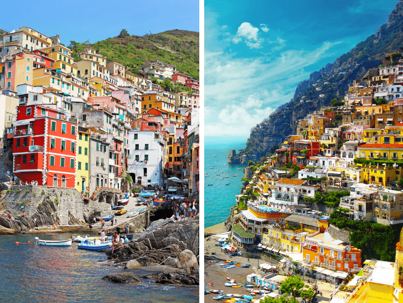 Cinque Terre Vs. Amalfi Coast