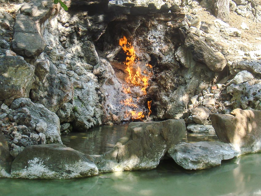 The famous Water Fire Cave in Guanziling