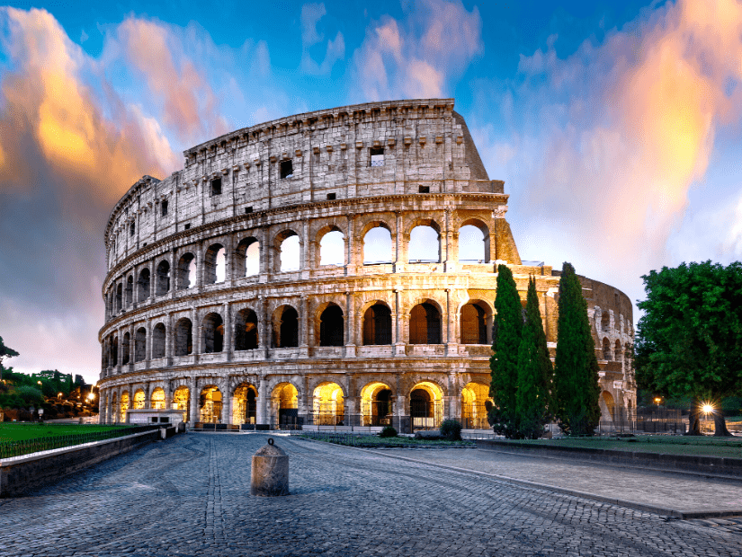 The Colosseum in Rome, one of the most famous places to visit in Italy with children