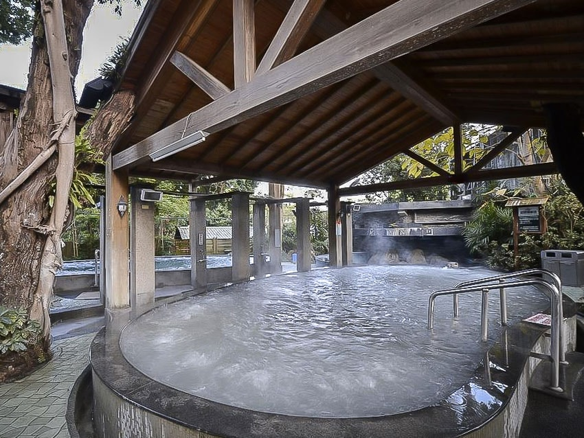 Mud hot spring at Toong Mao Hotel in Guanziling Taiwan