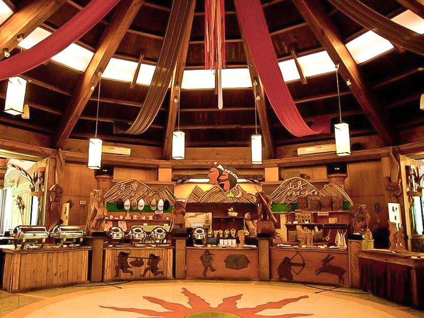 Aboriginal buffet restaurant in Taroko Village at Buluowan