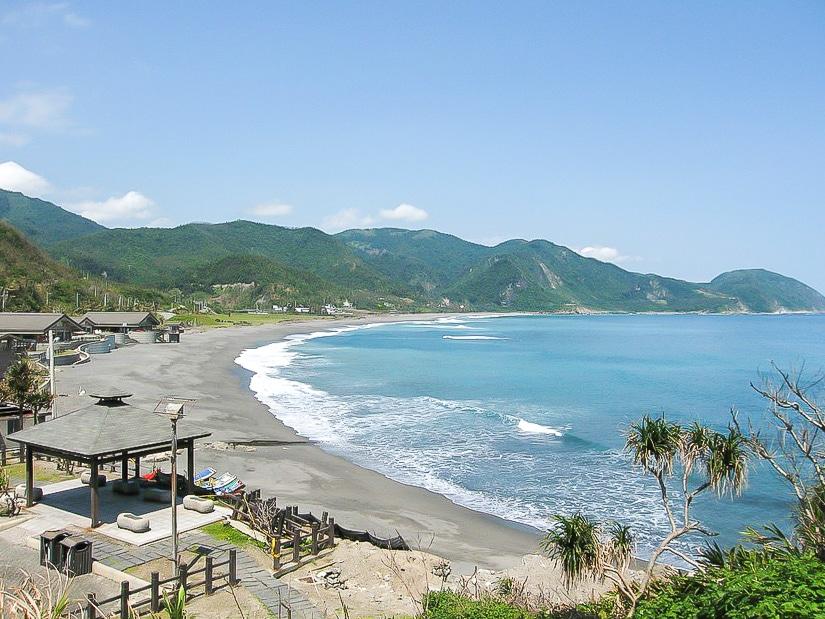 View of Jici Beach in Hualien