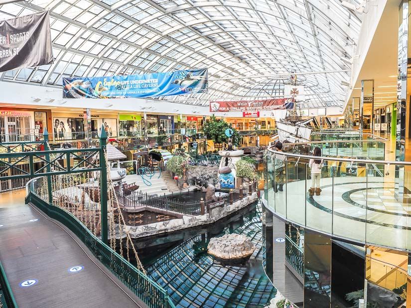 Indoor sea and ship in West Edmonton Mall, Edmonton's most famous attraction