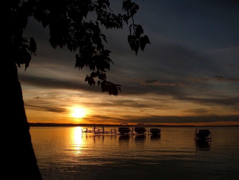Sunset at Sylvan Lake, Alberta