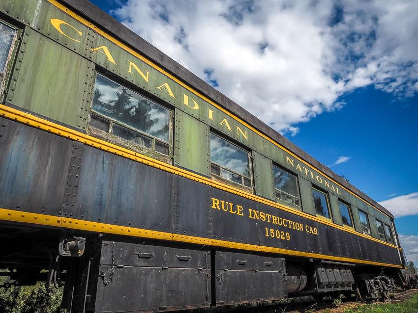 A Canadian train car at the Alberta Railway Museum