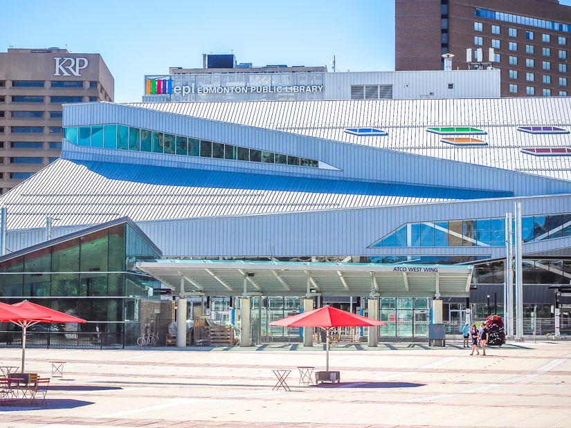 Stanley A. Milner Library and Churchill Square