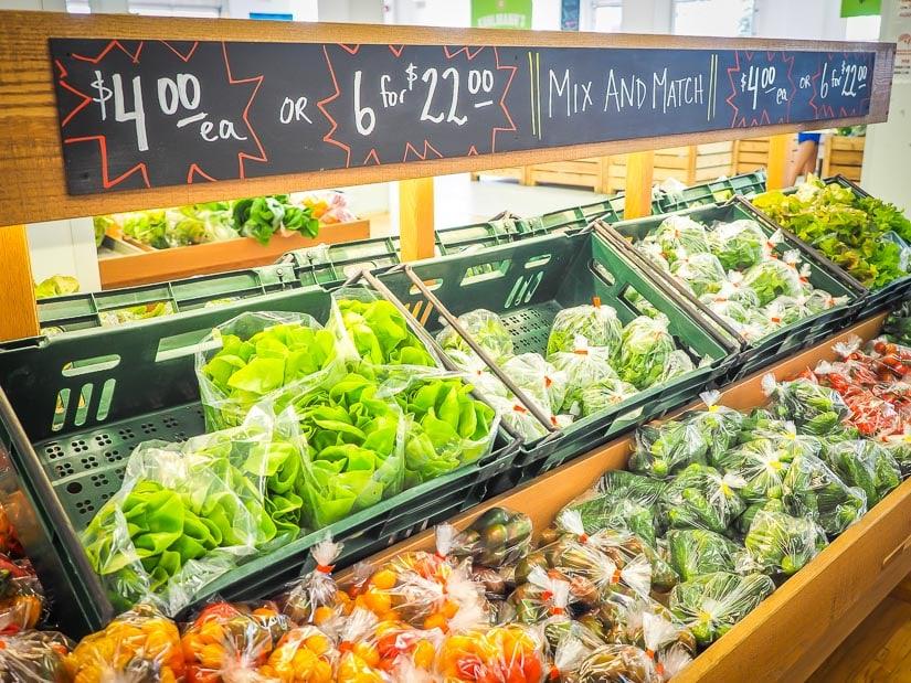 Produce for sale at Downtown Edmonton Farmers Market