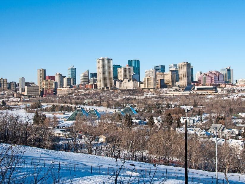Tobogganing in Edmonton at Gallagher Park
