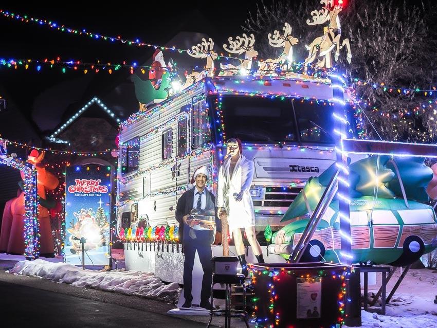 Griswold's Christmas Lights House in Stony Plain, Edmonton