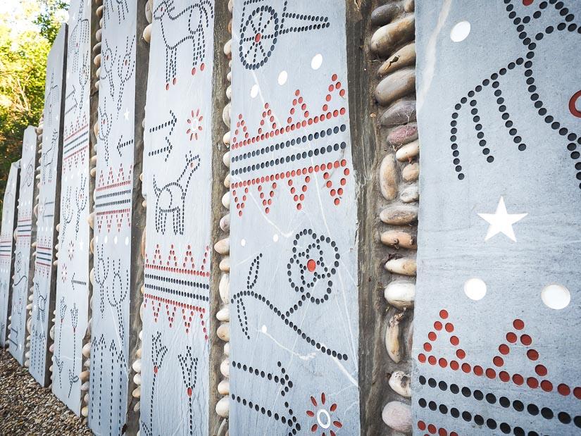 Indigenous artwork in the Edmonton River Valley