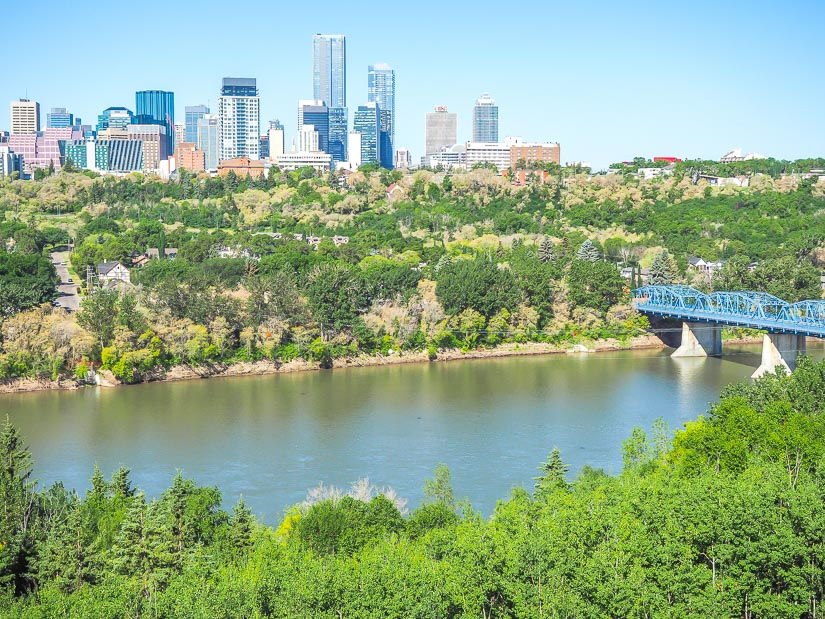 Edmonton River Valley viewed from Rowland Lookout