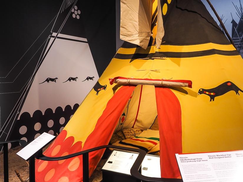 Teepee at the Royal Alberta Museum