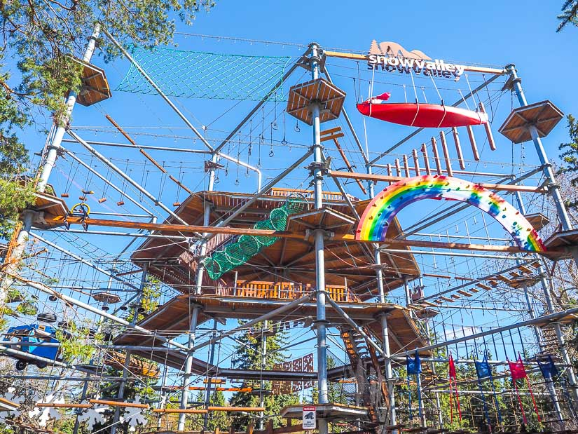 Aerial Park at Snow Valley Campground, a campground in Edmonton